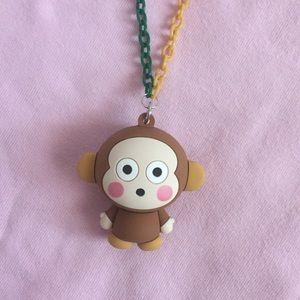 Monkichi monkey chain handmade necklace